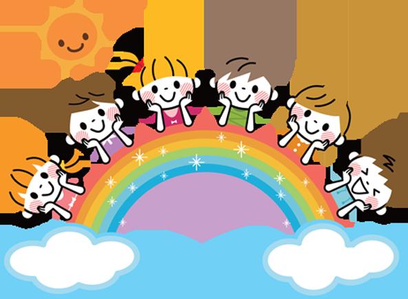 子ども達と虹